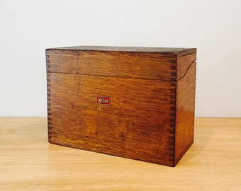 Vintage Industrial Weis Dovetail File Box