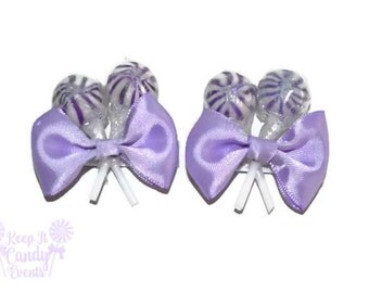 Purple Lollipop Hair Clips, Violet Candy Barettes, Candy Accessories, Bat Mitzvah hair ideas, Candy Themes, Love is Sweet, Purple Weddings