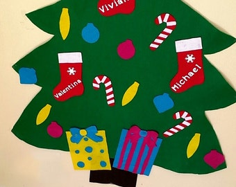 Adorable Personalized Felt Christmas Tree For Pretend Play