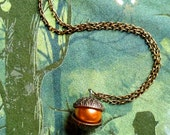 GOING OUT of BUSINESS--1/3 off Ocarina of Time-inspired Deku nut necklace