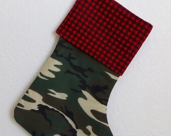 Camo christmas stocking | Etsy