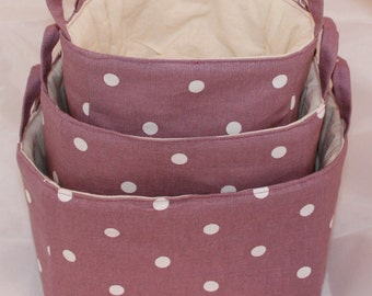 Stacking fabric Baskets