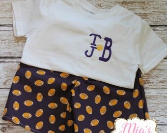 Purple and Gold,Boy Short Set