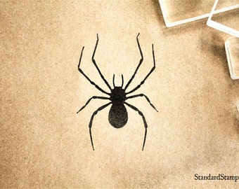 Spider Rubber Stamp - 2 x 2 inches