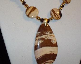 Zebra jasper necklace.
