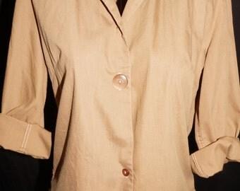 1950s Cotton Blouse Sz 10 Vintage Retro