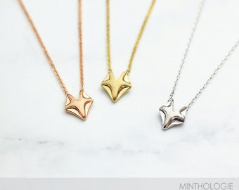 Fox Necklace RN106 • Woodland Necklace, Animal Necklace, Cute Necklace, Gift For Her, Gold Necklace, Silver, Rose Gold