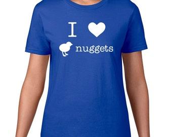 Chicken Nugget Tshirt, I Love Chicken Nuggets T Shirt, Funny TShirt, Food Tshirt, Nugget Tee, Funny T Shirt, Food T Shirt, Graphic Tee