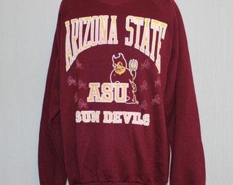 Vintage Arizona State Sun Devils NCAA Crewneck Sweatshirt XL
