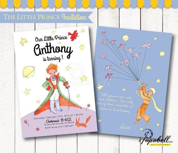 The little prince invitation for the little prince birthday le il570xn filmwisefo
