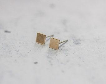 Minimal Square Brass Studs