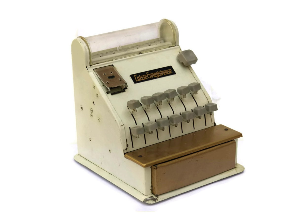 Toy Plastic Money : S toy cash register with plastic money french box