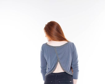 Backless Top, Shirts, Loose Shirts, Wrap Top, Womens Shirts, Unique Shirts, Unique Clothes, Womens Fashion, Best Friend Gift, Comfy Clothing