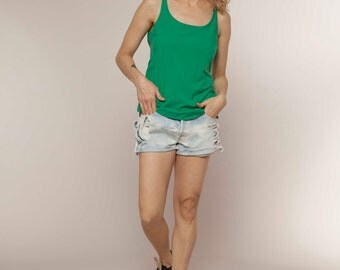 VALENTINES GIFT, Green Tank Tops, Basic Tank Top, Casual Tank Top, Lingerie Top, , Womens Tank Tops, Sleeveless Shirt, , Womens Gift, Gifts