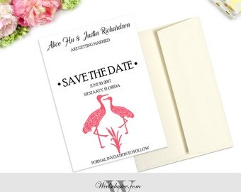 Save the Date Cards, Oriental Weddings, Modern, Bold and Unique - DEPOSIT