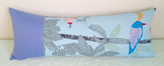 Reserved Large 14x36 Pillow Cover Only Ikea Blue Birds