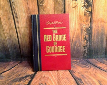The Red Badge of Courage by Stephen Crane - 1983 Reader's Digest - With Extra Fly Leaf Insert - Great Shape, Bold Colors - Office Decor