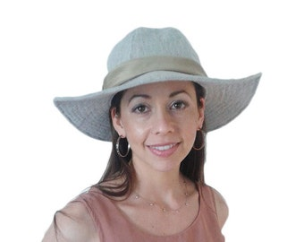 Sun hat, linen hat, silk lined hat, linen sun hat