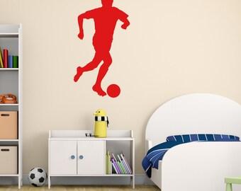 Football Player Wall Sticker, Footballer Wall Sticker, Football Wall Decal, Football Player Wall Decals, Footballer Wall Transfer - SP015