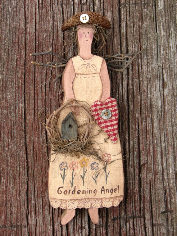 Gardening Angel With Birdhouse