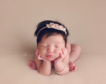Flower Headband, Pink Flower Headband, Pink Headband, Pink Halo Headband, Halo Headband, Flower Halo, Newborn Headband, Baby Headband
