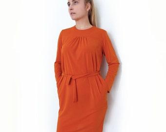 PDF Pattern Women's Jersey / Knit fabric Dress Long/Short sleeve XS-S-M-L-XL n.21