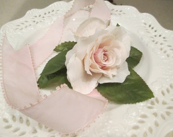 Wrist Corsage Silk Rose Wedding Corsage Floral Accessories Corsage Bridemaid Corsage, Blush
