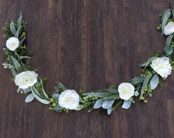 Flower garland, bohemian flower garland, floral table runner, wedding garland, floral garland