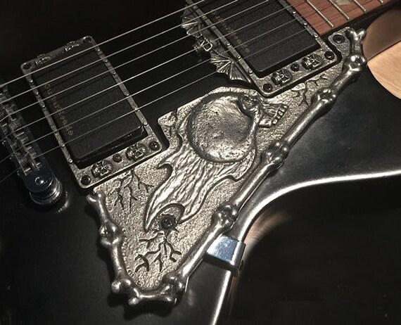 guitar parts pewter hardware skull gibson les paul. Black Bedroom Furniture Sets. Home Design Ideas