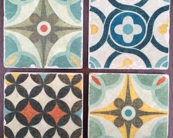 Morrocan tile coasters
