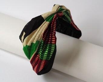 African Tribal Print Geometric Turban Headband