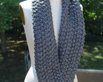 "Infinity Scarf, Charcoal ""The Emily"""