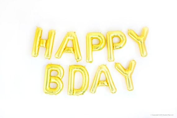 happy birthday banner gold silver letter balloon banner gold foil