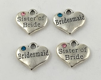 4 wedding charms collection antique silver, 20mm x 22mm #CH 299