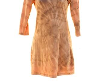 Tie Dye UpCycled ScoopNeck Dress-Top Ladies Large