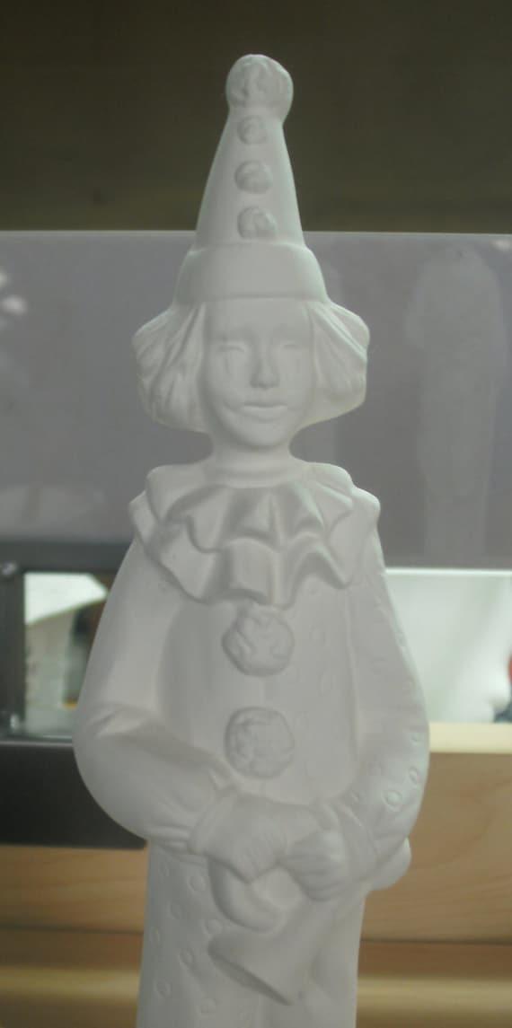 Diy ceramic bisque ready to paint ceramic clowns pair of for Diy ceramic painting