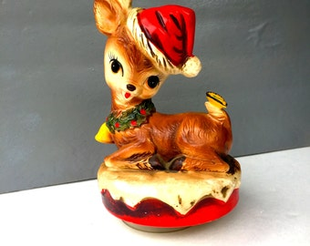 Vintage, Rudolph The Red Nosed Reindeer Music Box