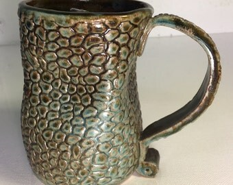 BLACK FRIDAY SALE Large snakeskin mug