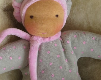 Waldorf doll / Waldorf soft  cuddle doll 8,5""