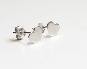 Heart Stud Earrings - 925 Sterling Silver Edition