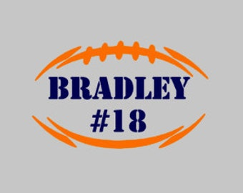 Football Name & Number Decal | Football Player Decal | Highschool Football Decal | Yeti Decal | Sports Decal