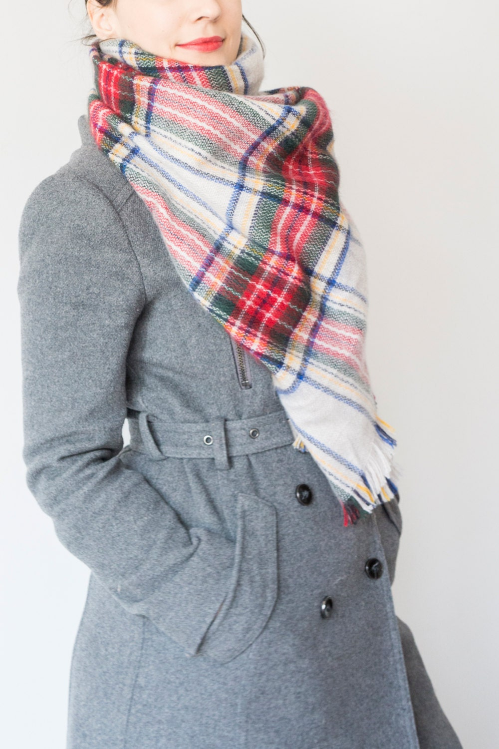 plaid scarf tartan scarf gift for gift for ideas