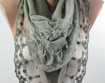 Lace Scarf Shawl Tulle Cowl Scarf Fashion Scarf Women Scarves Spring Summer Fall Winter Women Fashion Accessories Christmas Gifts For Her