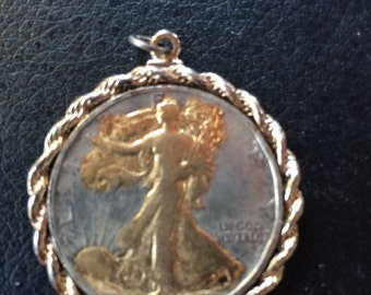1/2 dollar medallion 1943, necklace