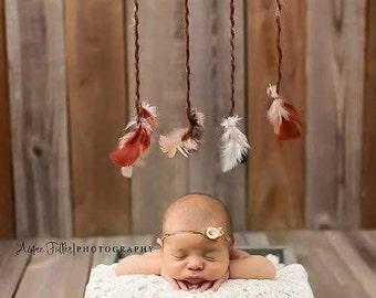 Newborn baby Boy or Girl Photography Prop set: box, mobile