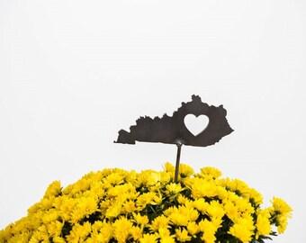Kentucky State Heart Garden Art Stake