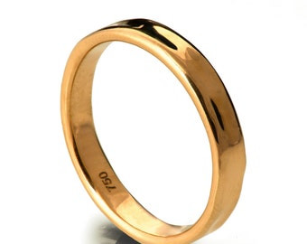 Simple Gold Wedding Band - 18k Rose Gold Ring, 18k Gold Band, Wedding Ring , Wedding Band, Solid Gold Band, Solid Gold Ring