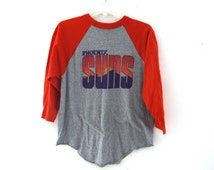 Vintage 80s tshirt Phoenix Suns raglan 80s basketball