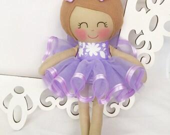 Ballerina Doll- Fabric Doll, Cloth baby doll, Handmade Dolls