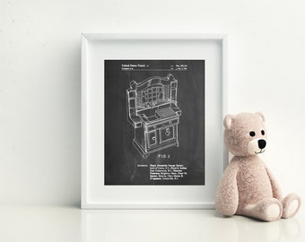 Kids Kitchen Poster, Kids Kitchen Patent, Kids Kitchen Print, Kids Kitchen Art, Kids Kitchen Decor, Kids Kitchen Wall Art, PP0909